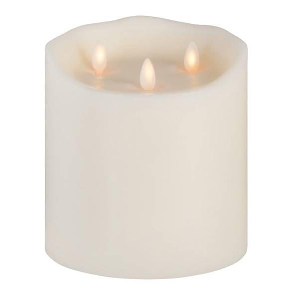 Sompex, LED candel w/3 flames 15x16 ivory