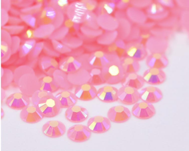 Rhinestones, 1000 stk pink